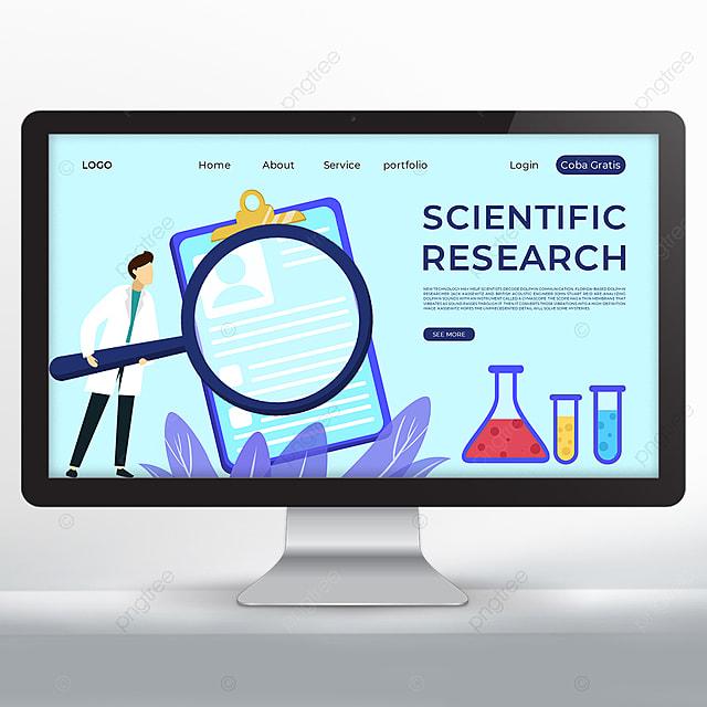 scientific research promotion data web design