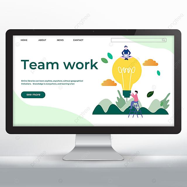 simple teamwork promotion web design