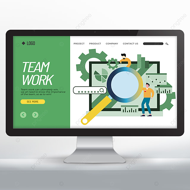 teamwork cartoon style web design