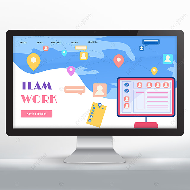 teamwork webpage simple website design