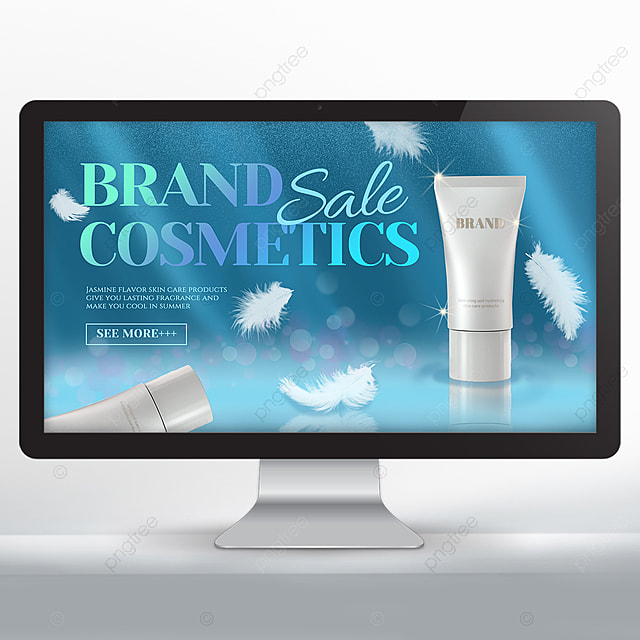 white feather spot cosmetics promotion banner