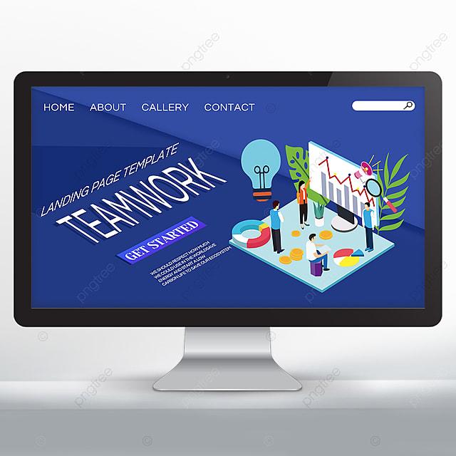 blue creative team cooperation promotion web design