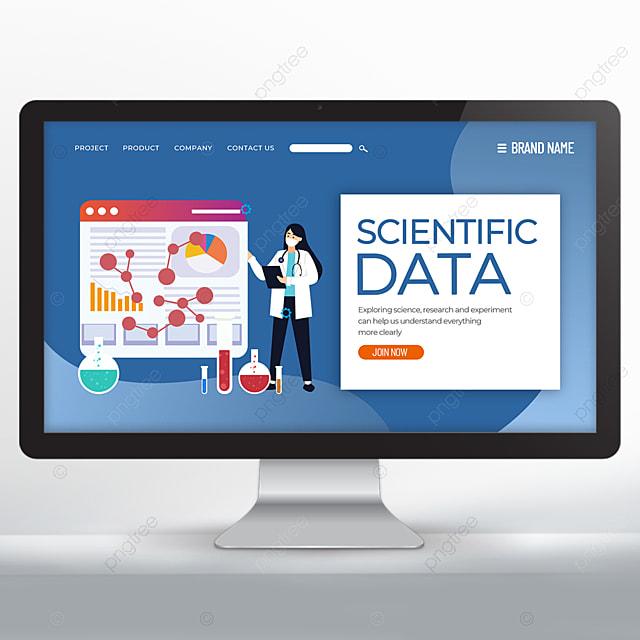 blue scientific research web design