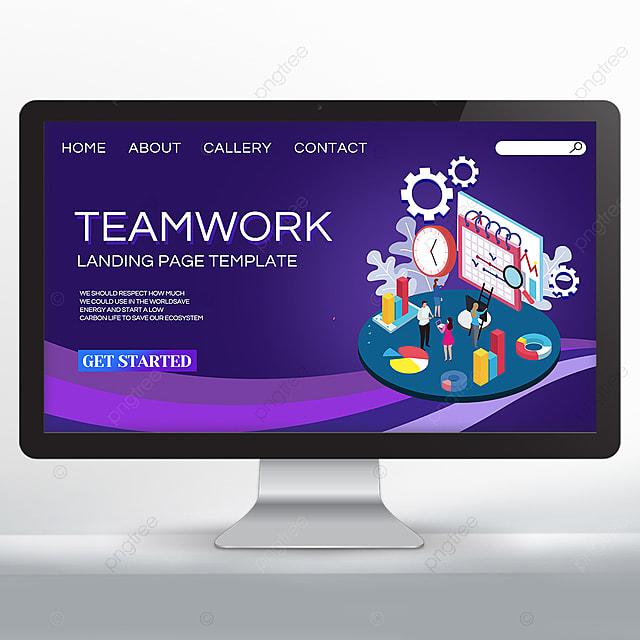 dark set teamwork promotion web design