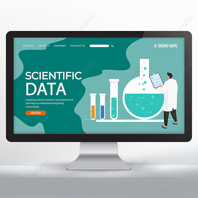 scientific experiment research web design