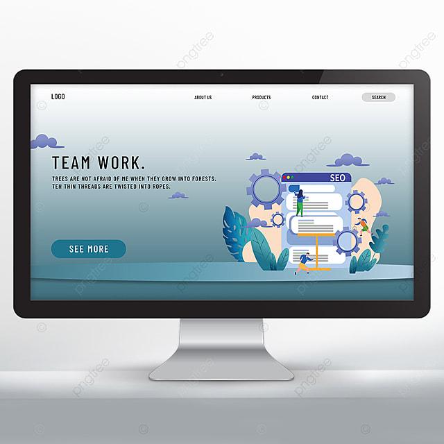 flat teamwork web design