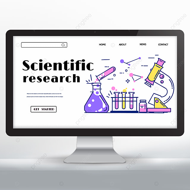 research landing page design