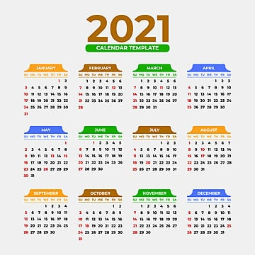 Desain Kalender 2021 Vektor / Aneka Model Desain Kalender ...