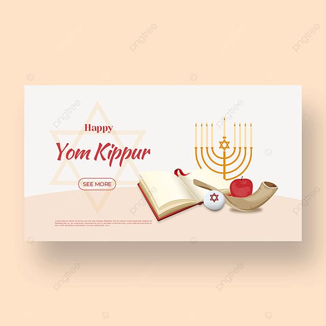 beautiful pale candle light effect flashing judaism yom kippur template