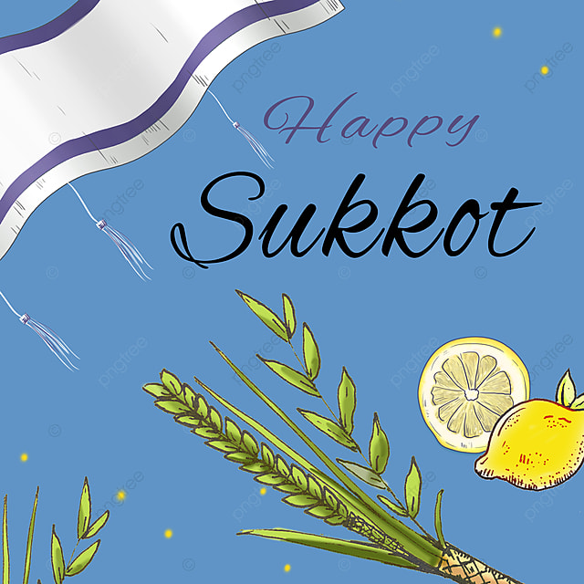 blue creative silk sketch sukkot festival promotion