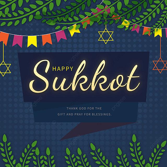 creative wave dot dark blue sukkot festival promotion