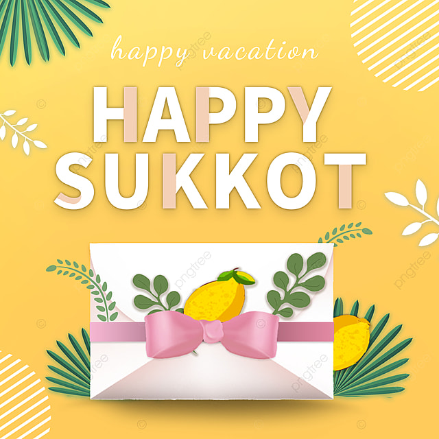 creative yellow simple envelope sukkot festival promotion