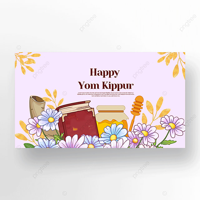 cute flower honey horn judaism yom kippur template