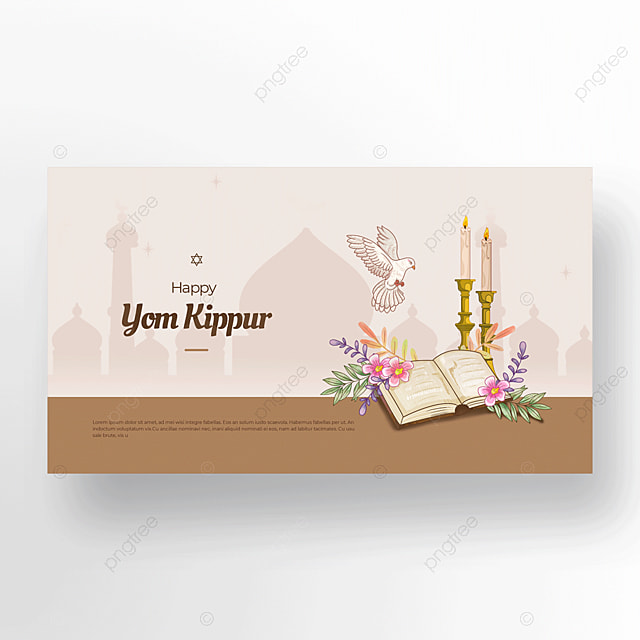 illustration cute candle peace dove bible judaism yom kippur template