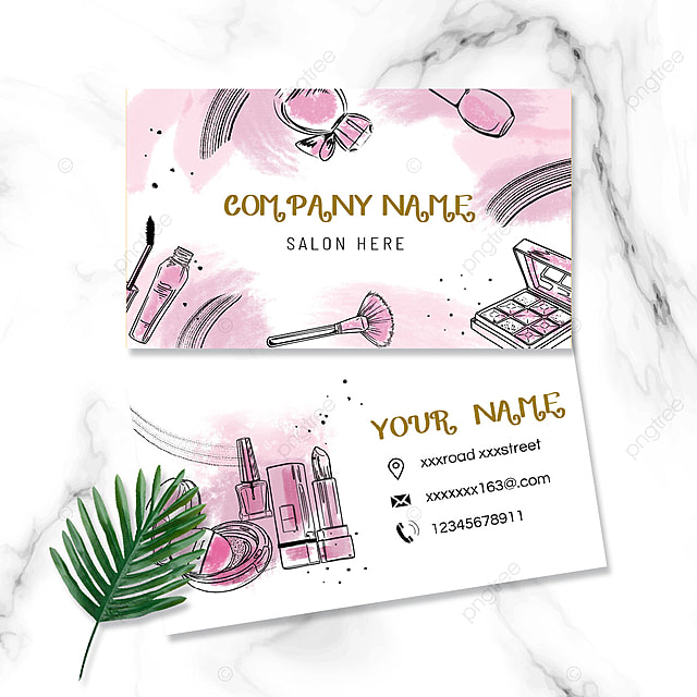 Nouvel Conception De Carte De Visite Artiste Maquillage Tendance QC-12