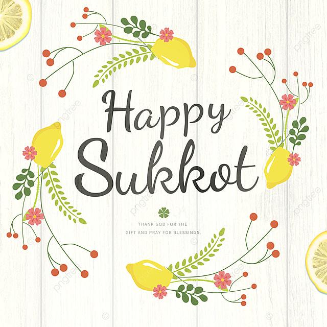 simple and simple thatch wreath creative cartoon sukkot festival promotion