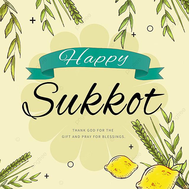 simple cartoon sketch simple creative sukkot festival promotion
