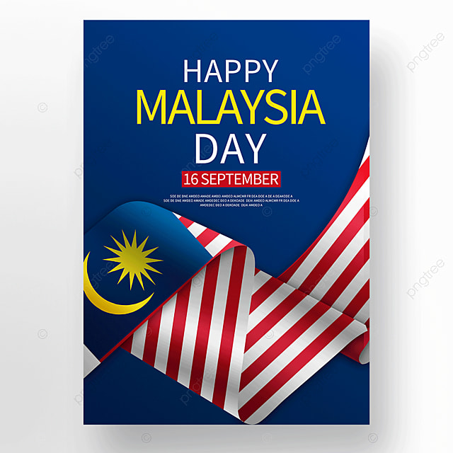 blue texture malaysia day poster