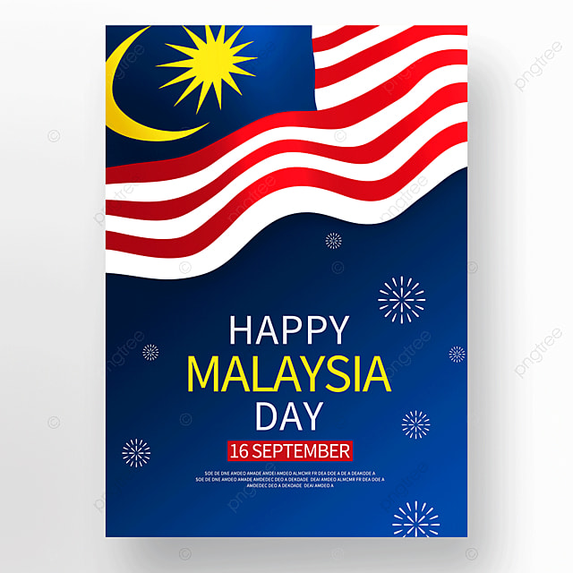 blue vector malaysia day poster