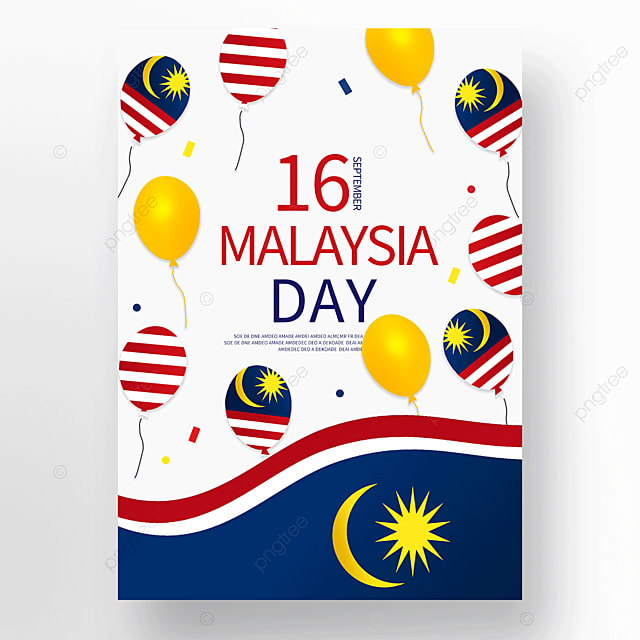 colorful balloons malaysia day poster