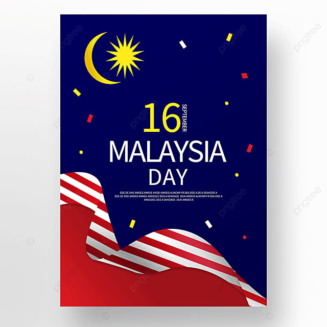 colorful malaysia day poster