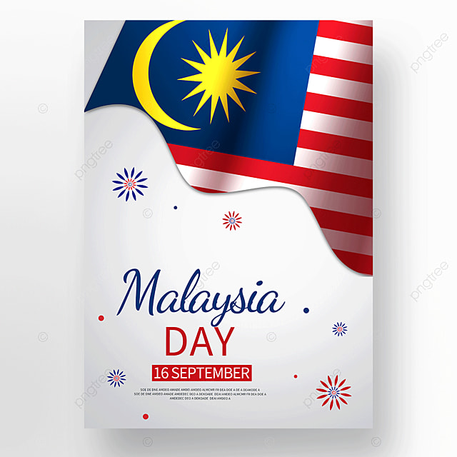 colorful texture malaysia day poster