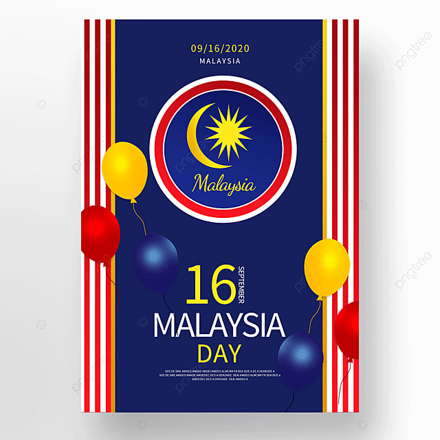 colorful vector malaysia day poster