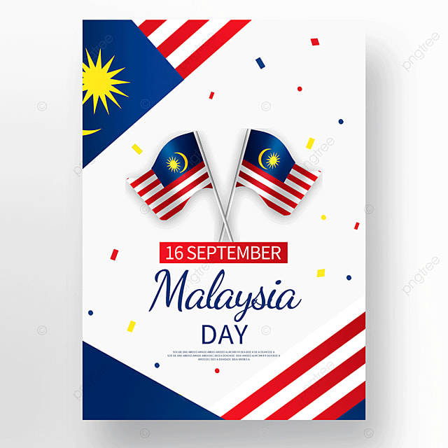 minimalistic vector malaysia day poster