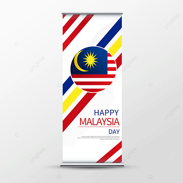 simple malaysia day roll up banner