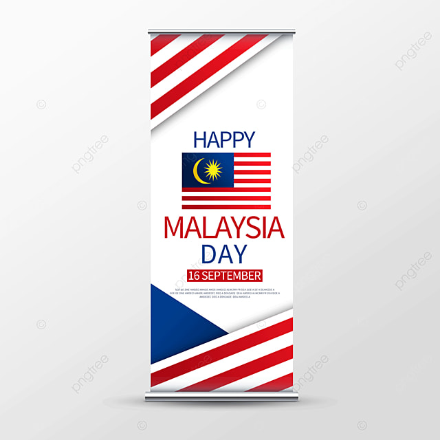 simple vector malaysia day roll up banner