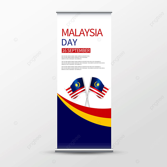 vector malaysia day roll up banner