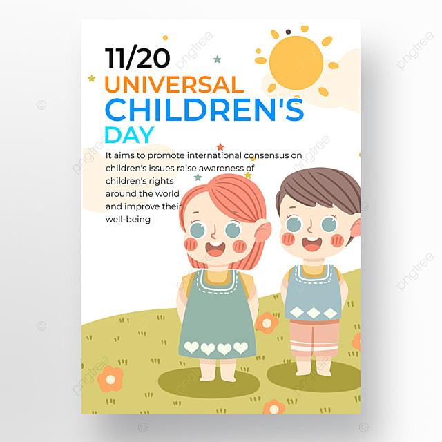 Desain Poster Promosi Hari Anak Anak Sedunia Yang Digambar Tangan Templat Untuk Unduh Gratis Di Pngtree