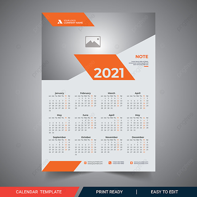 Calendrier Mural 2021 Une Page Calendrier Mural 2021 Calendrier