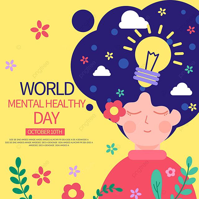 Mewarnai Hari Kesehatan Mental Sedunia Sns Templat Untuk Unduh Gratis Di Pngtree