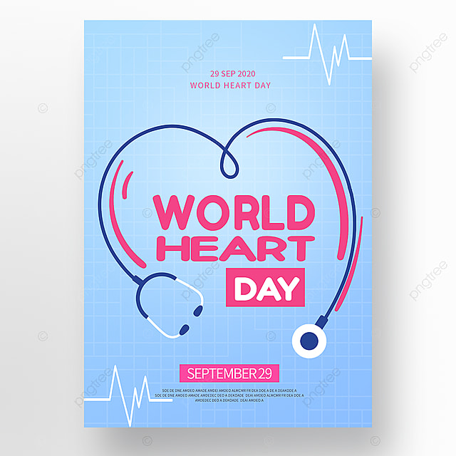 colorful vector world heart day poster