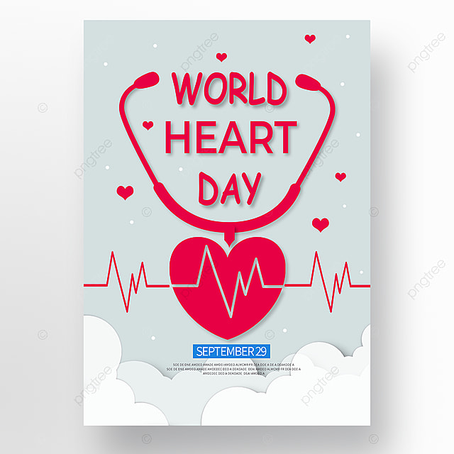 minimalistic vector world heart day poster