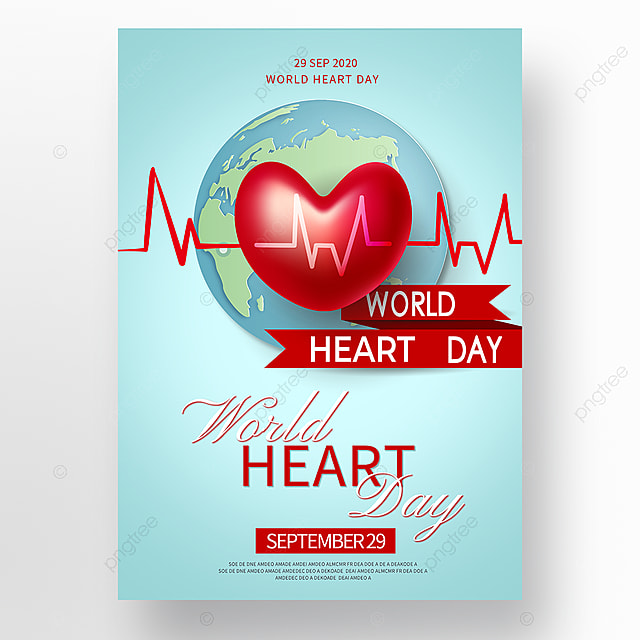 vector world heart day poster