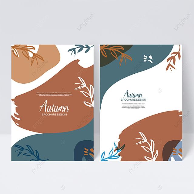 brown autumn sample cover design