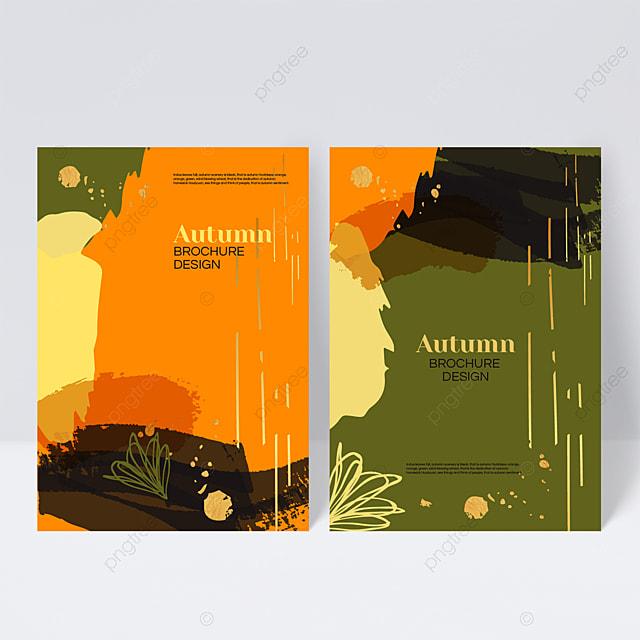 contrasting color autumn sample cover design
