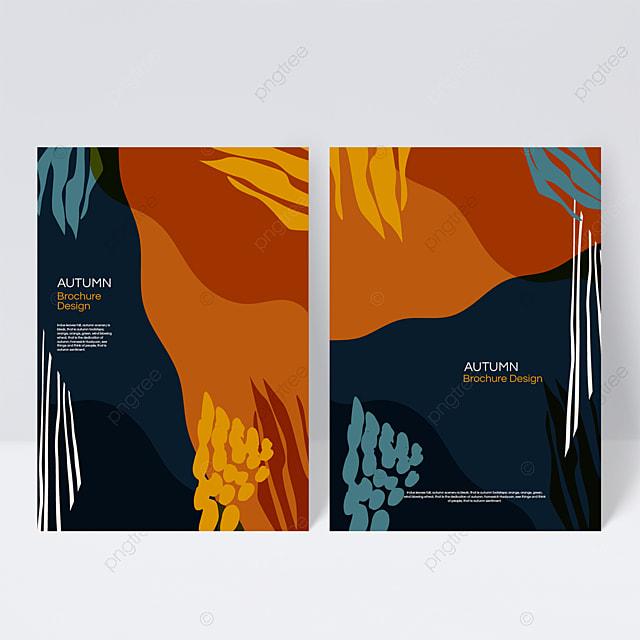 dark blue autumn sample cover design