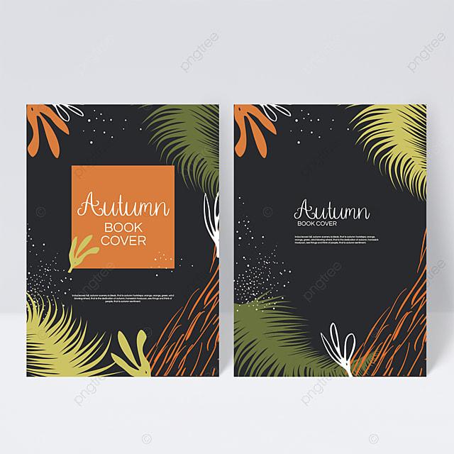 hand drawn autumn sample cover design