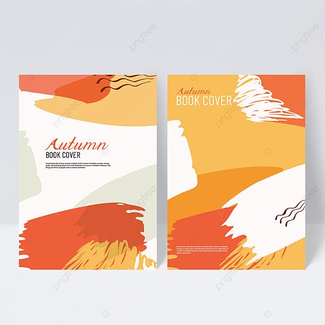 orange autumn sample cover design