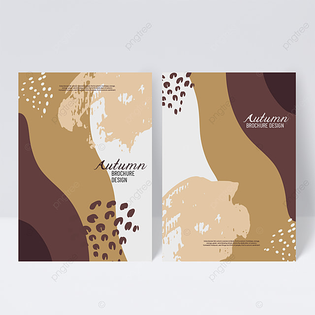 red brown autumn sample cover design