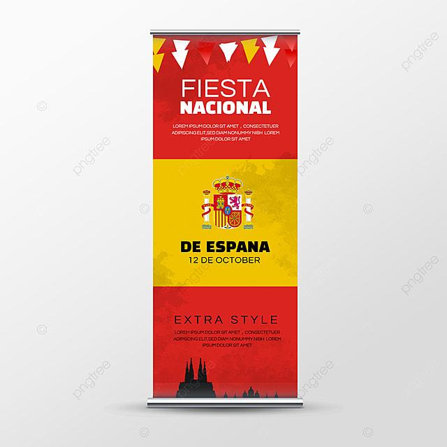 architecture fiesta nacional de españa banner social media roll up banner