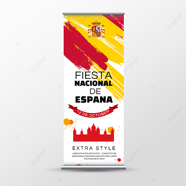 brush fiesta nacional de españa banner social media roll up banner
