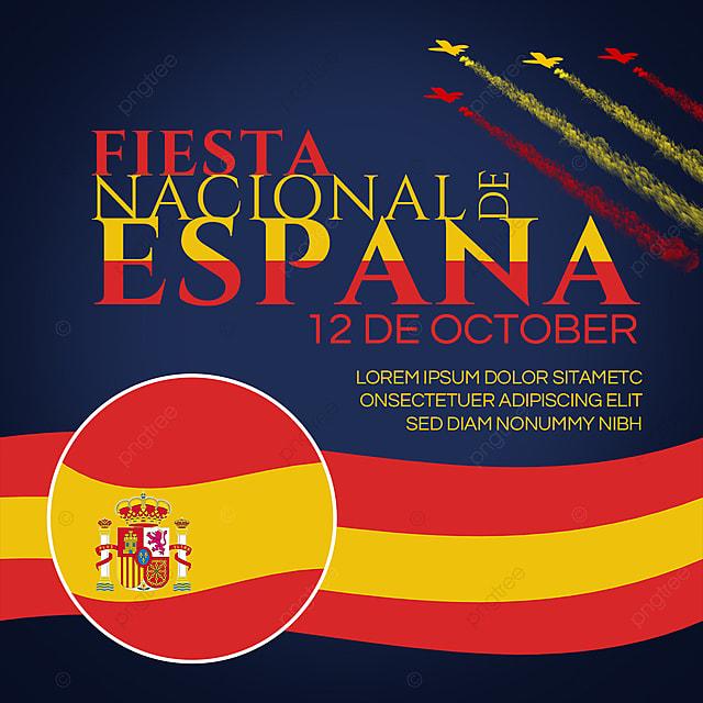 fiesta nacional de españa banner social media template