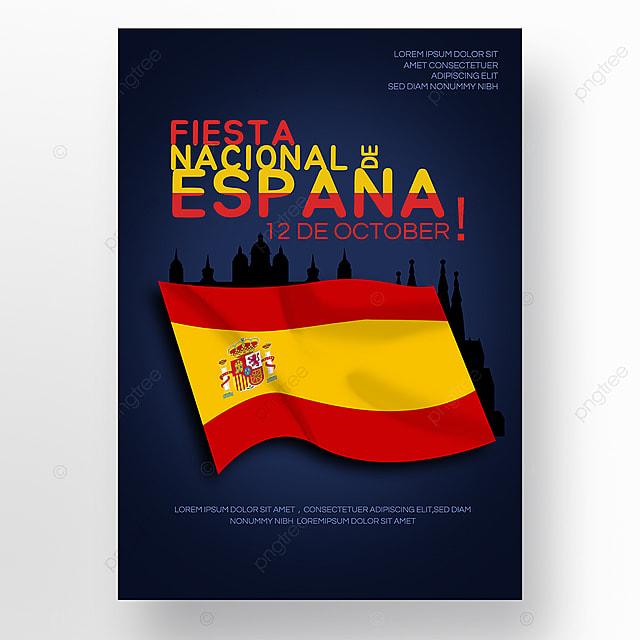flag fiesta nacional de españa flag social media poster