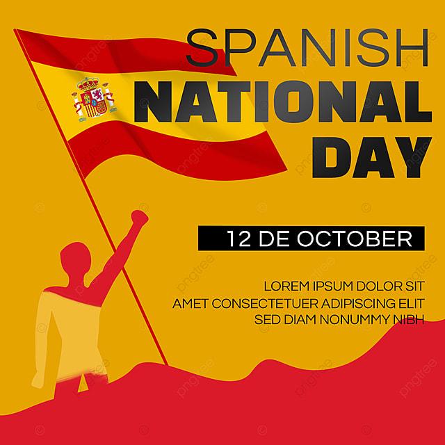 national flag spanish national day banner social media roll up banner