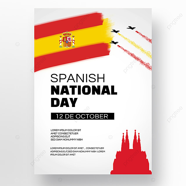 simple spanish national day social promotion poster