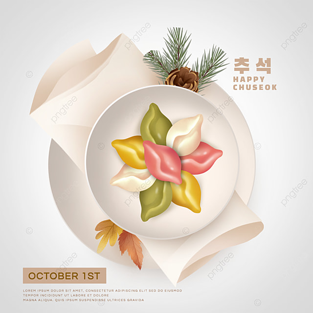 korean mid autumn festival colorful dumplings social media sns